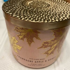 Champagne apple and honey candle
